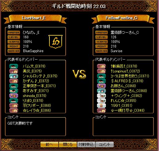 GBT決勝