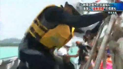 海 強制排除-乗込