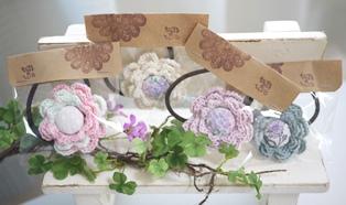 花のヘアゴムー140803キララ祭