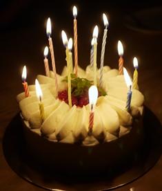 手作りショートケーキろうそく‐K- 140915