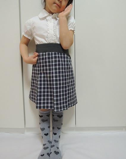 ボックススカート_着画b