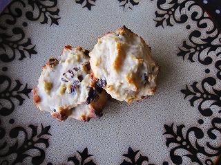クルミとレーズンのドロップクッキー