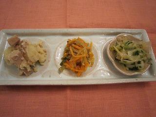 中華の前菜3種