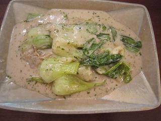 チンゲン菜の極上クリーム煮