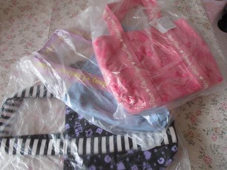 入学祝い・ピンク・水色・黒バッグ