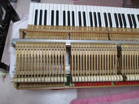 ピアノ鍵盤修理後⑤