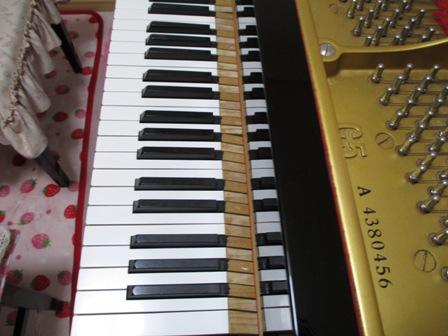 ピアノ鍵盤修理後⑧