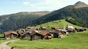 Swiss village noon