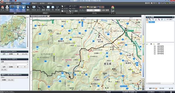 スーパーデジタルマップ画面1_R1