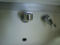 洗面所の蛇口取れた