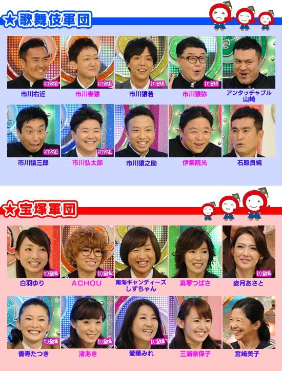 歌舞伎軍団VS宝塚軍団