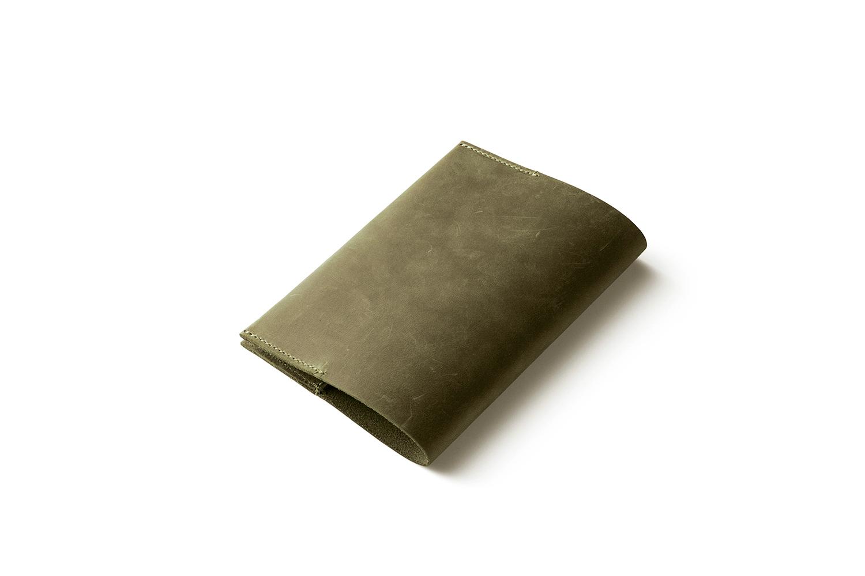 ナポレオンカーフ・ボナパルト文庫カバー オリーブ