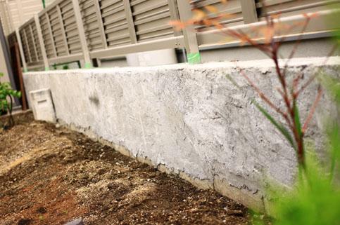 ブロック塀モルタル塗り