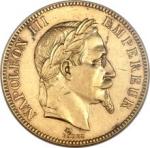 .Napoleon III gold 100 Francs 1870-A AU53 NGC