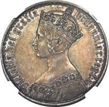 イギリスゴティッククラウン銀貨 1847年