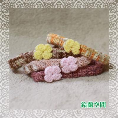 寄付用:ゆるゆる花付き編み首輪(輪っか仕様)