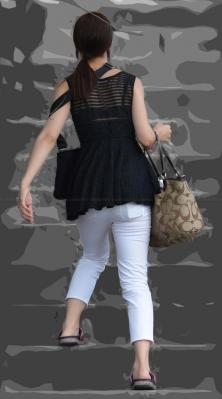 ■vol186-ムチムチぴったりホワイトパンツ