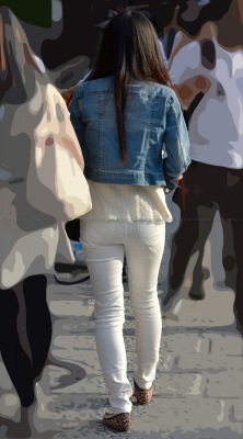 ■vol177-ホワイトデニムパンツ