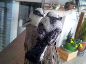 羊毛野鳥メンテ2