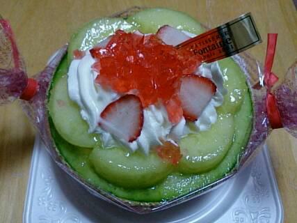 夏のメロンケーキ1