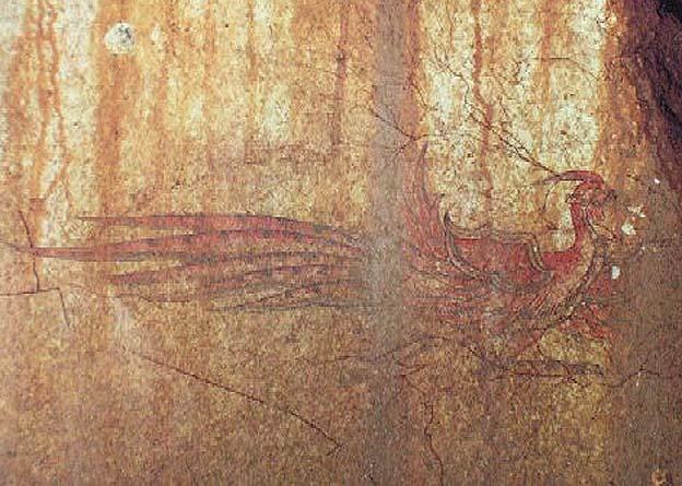 20140515 キトラ古墳壁画 朱雀 22㎝