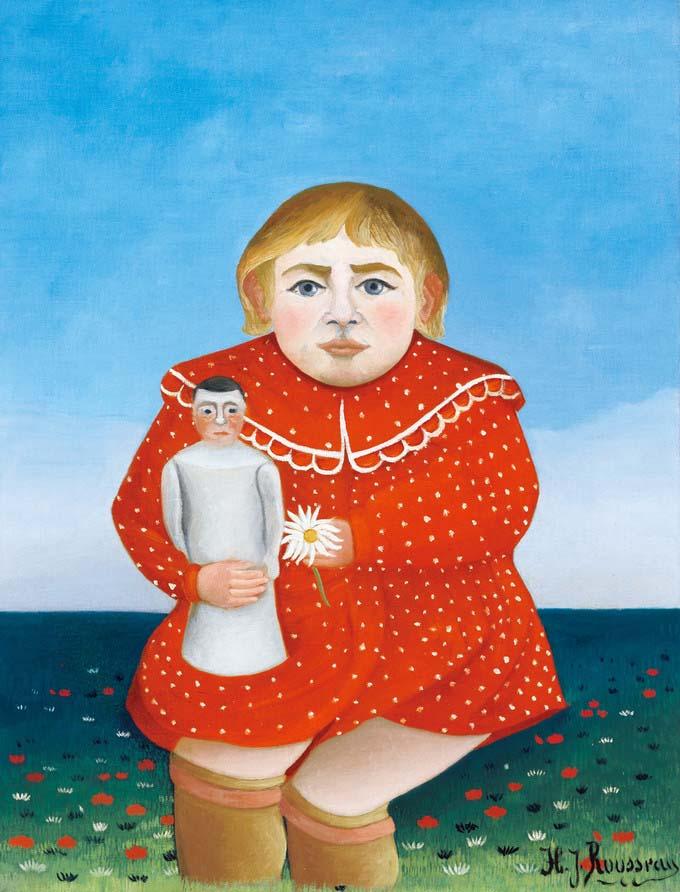 20140617 アンリ・ルソー 人形を抱く子ども 1904-05年頃 24cm 50973