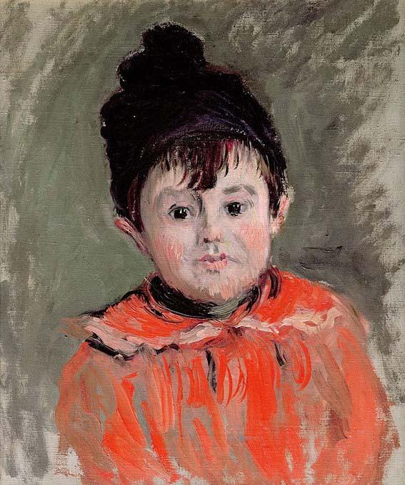 20140617 クロードモネ 玉房付の帽子を被ったミシェル・モネの肖像 20cm