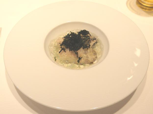 20140617 Edition 1 牡蠣の冷製 海水と未完のジュレ 岩ノリ 22㎝DSC00982