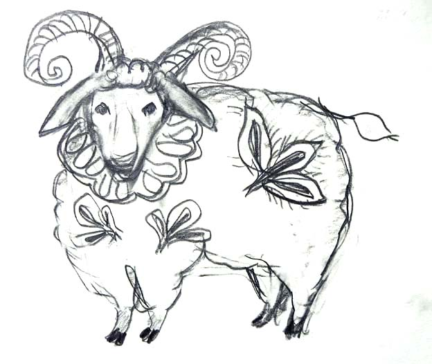 20140712 デッサン パパ羊 22㎝ DSC01390