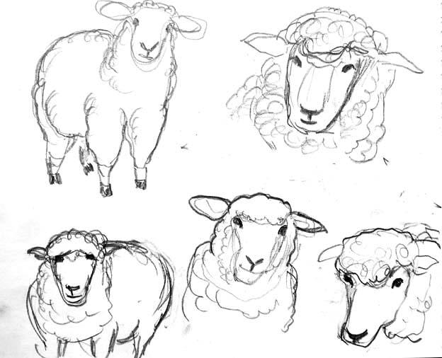 20140712 デッサン 羊 22㎝DSC01388