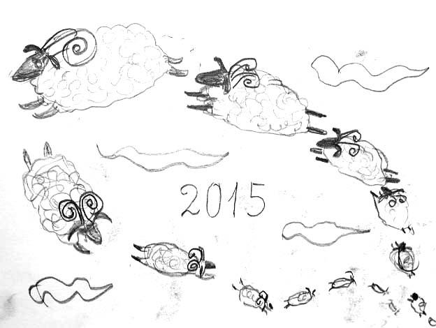 20140712 デッサン 羊が1っ匹 アニュアルボード 22㎝DSC01386