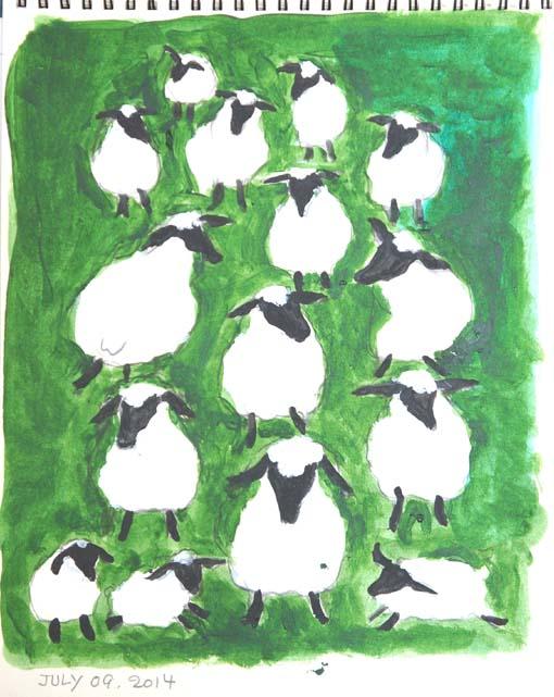 20140712 羊 集団 色 18㎝DSC01605