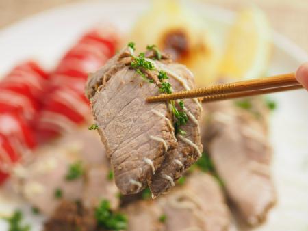 豚もも肉のタバスコ焼き25