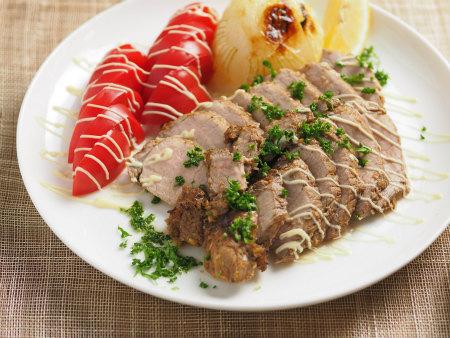 豚もも肉のタバスコ焼き07