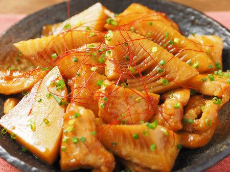 筍と鶏むね肉の照り煮40