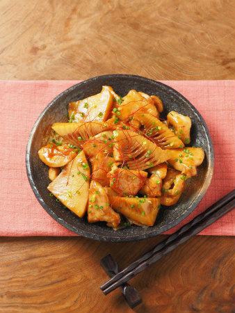 筍と鶏むね肉の照り煮32