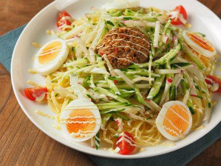 肉味噌サラダスパゲティ19