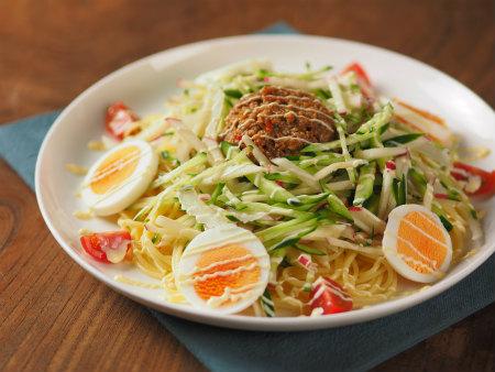 肉味噌サラダスパゲティ03