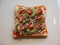 納豆さば味噌ピザトースト30