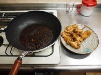 小玉ねぎと手羽元の煮物48