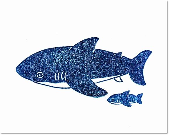 ホオジロザメはんこ