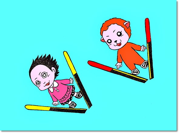 飛ぶ少女サキ&メイの巻