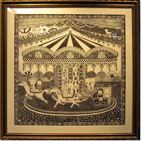 第4回けしごむ・はんこ・てん大サイズ展示作品『マジカルメリーゴーランド』