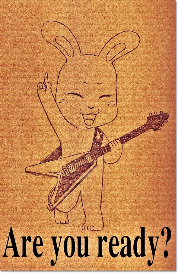 ミーコとギター フライングV
