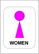 トイレマーク女性用の雛形・見本サンプル