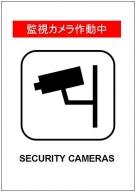 監視カメラ作動中の張り紙テンプレート・フォーマット・雛形