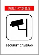 防犯カメラ設置店ポスターテンプレート・フォーマット・雛形