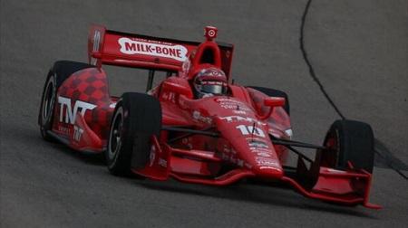 インディカー第12戦アイオワ、レース後のディクソンとカナーン