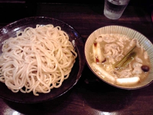綿麺 フライデーナイト Part67 (14/5/23) 焼きネギとしめじの豚しゃぶつけ麺
