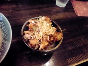 綿麺 からあげ丼(2014年6月)